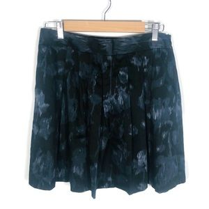 Theory Sori Veil Watercolor Pleated Skirt